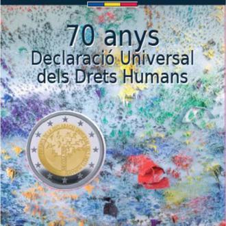 Андорра, 2 евро 2018, 70-летие Всеобщей декларации прав человека