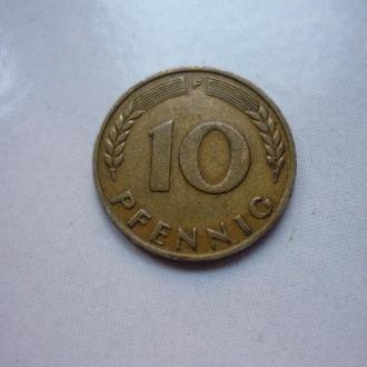 ФРГ 10 пфеннигов 1949 F Bank Deutscher Lander