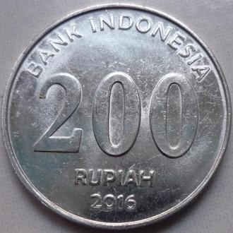 Индонезия 200 рупий 2016 состояние