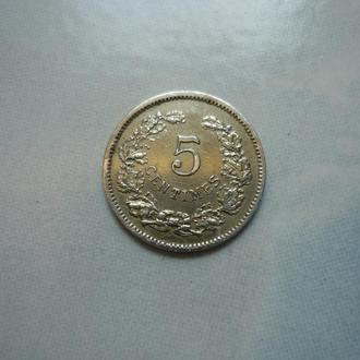 Люксембург 5 сантимов 1901