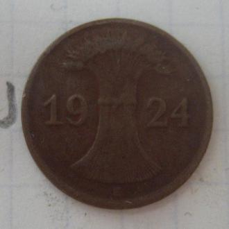 ГЕРМАНИЯ. 1 пфенниг 1924 года.