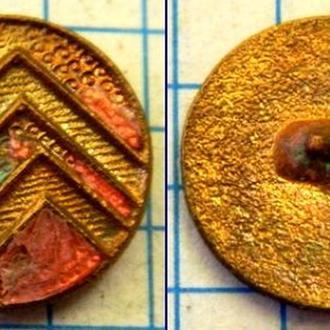 Пуговица медная с остатками эмали 18-19 вв