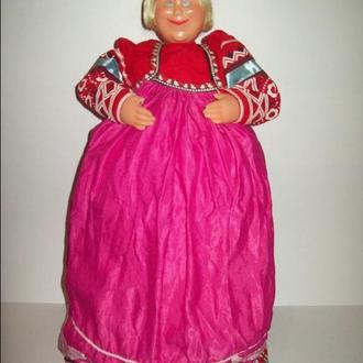 Кукла на самовар двуликая редкая СССР большая