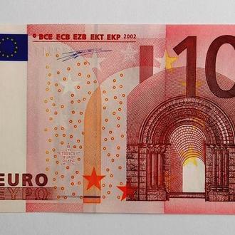 10 евро Euro 2002 г. редкие серия Z сохран UNC !!!