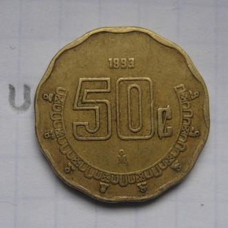 МЕКСИКА. 50 сентаво 1993 года.
