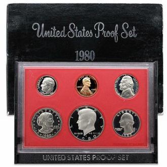 Годовой набор монет США (1980 год) (Пруф) (S)