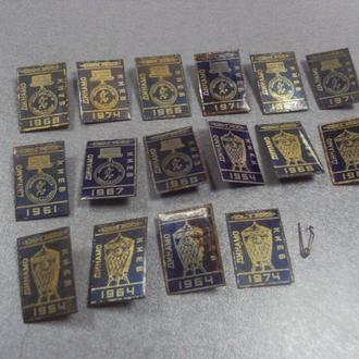 футбол динамо киев 1954 1961 1964 1967 1968 1974 лот 17 шт №5606