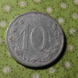 Чехословакия 1953 год монета 10 геллеров !