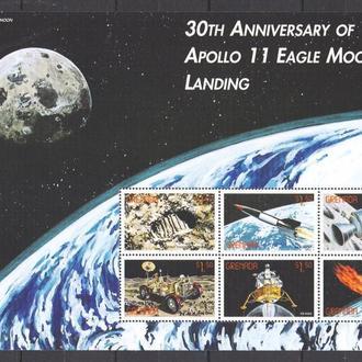ГРЕНАДА 1999 ** Космос Apollo-11 Луна МЛ MNH