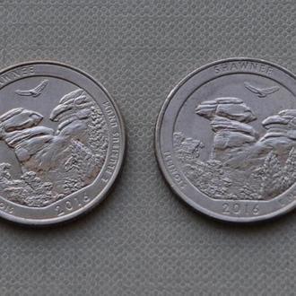 25 центов США Shawnee 2016 Шоуни 31-й парк