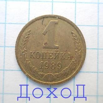 Монета СССР 1 копейка 1989 №16