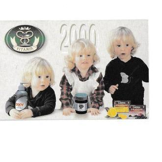Календарик 2000 Витамин, дети, реклама