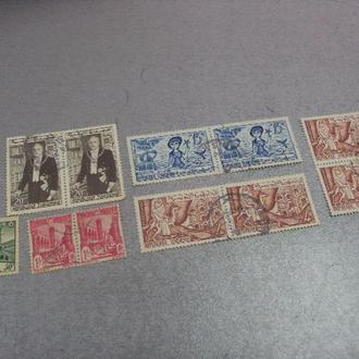 марки Тунис стандарт 1960 личности президент хабиб бургиба архитектура русалка  лот 11 шт №150