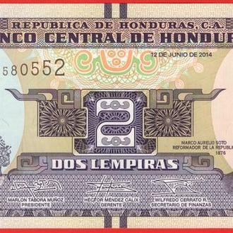 2 Лемпира 2014,(0,35) Гондурас UNC