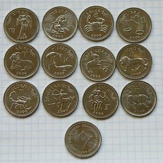 Сомалиленд, 12 монет, знаки зодиака