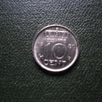 Нидерланды 1980г. 10 центов.