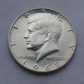 1968 - 1/2 доллара США,Кеннеди,серебро № 2