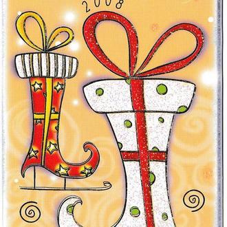 Календарик 2008 Календарь счастливых дней, с позолотой