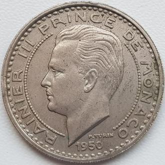 Монако 100 франков 1950 год  СОСТОЯНИЕ!!!!!!
