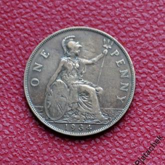 Великобритания 1 пенни 1934 г состояние