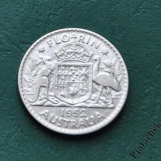 Австралия 1 флорин 1952 г серебро №2
