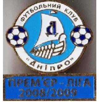 значок футбол   Днепр Днепропетровск  Премьер-Лига 2008-2009