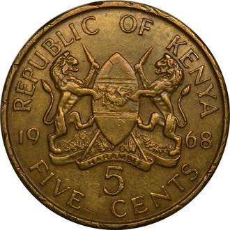 Кенія 5 центів 1968   #430