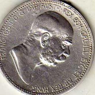 Австрия 1 крейцер 1908г