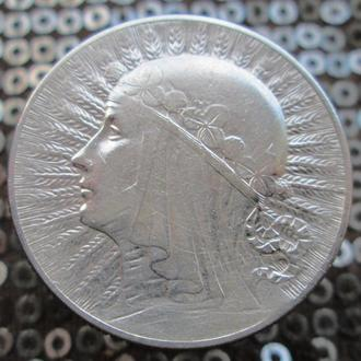 5 злотых 1934 г. Ядвига..Серебро.
