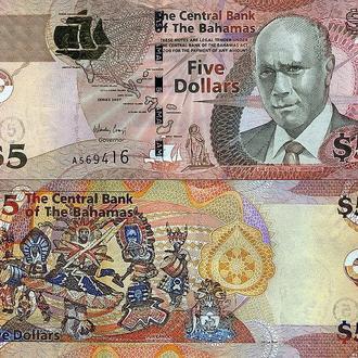Багамы - 5 долларов 2007 UNC