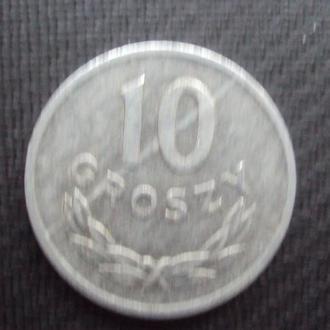 Польша 10 грошей. 1965г.