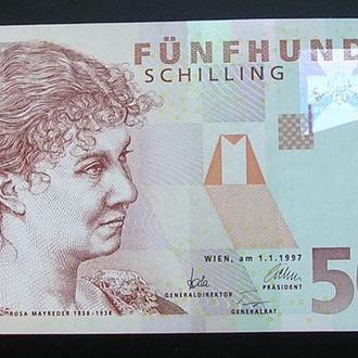 Австрия 500 шиллинг 1997 UNC