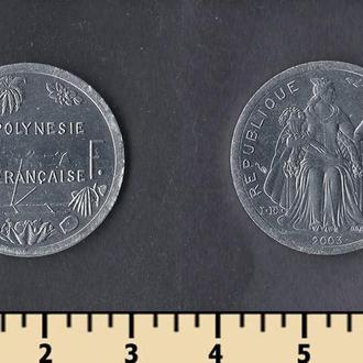 Французская Полинезия 1 франк 2003
