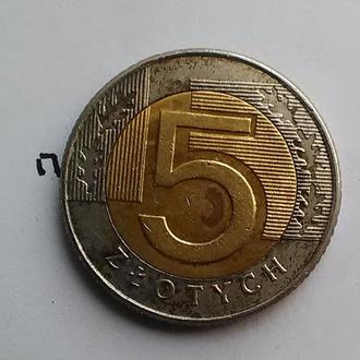 ПОЛЬША, 5 злотых 1994 года.