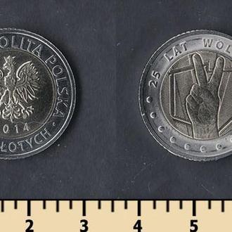 Польша 5 злотых 2014