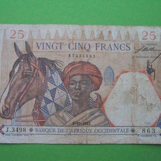 Французская Западная Африка 1939 25 франков