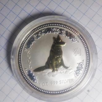 ГОД СОБАКИ АВСТРАЛИЯ 1 доллар 2006 серебро