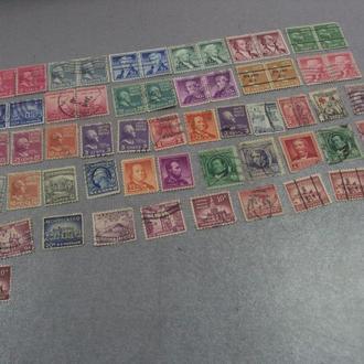 марки сша личности олимпийские игры, архитектура, ирвинг, красный крест, хопкинс, луиза лот 58шт №54