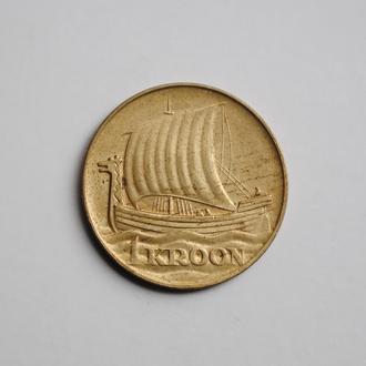Эстония 1 крона 1934 г., UNC, '1ая Республика (Крона) (1928-1940)'