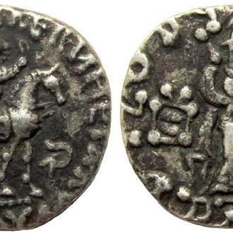 Индо-Скифы. Азес II. 35-12 BC. AR драхма