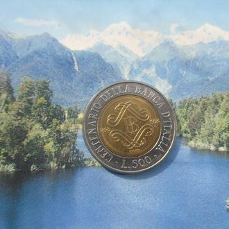 Италия 500 лир 1993 года