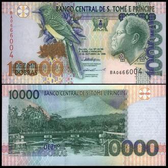 САН ТОМЕ и ПРИНСИПИ 10000 добра 1996г. UNC