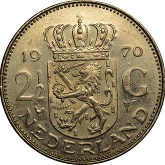 Нідерланди 2½ Гульдена 1970