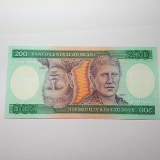 200 крузейро, 1984, Бразилия, пресс, unc, оригинал