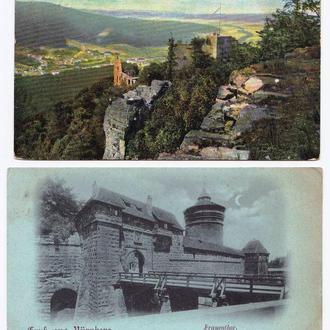 Архитектура .  1913 г - 2е ПК  / 2а скана - Nurnberg & Baden-Baden