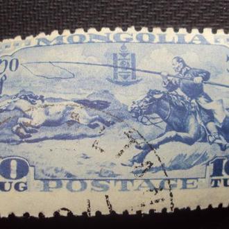 Монголия 1932г.негаш. клей.