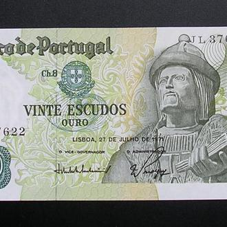 Portugal Португалия 20 эскудо 1971 UNC