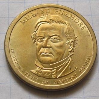 США_ 1 доллар 2010 года P  13-й президент  Миллард Филлмор