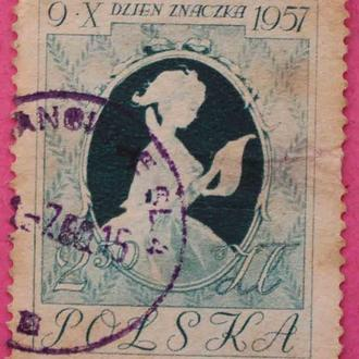 Марка Польши 1957 г.