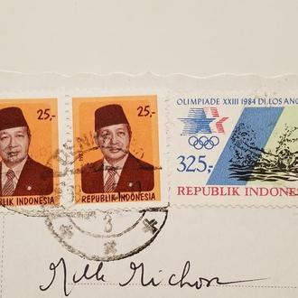 (А) 3-и Марки Индонезия 1983 -1984 год + Открытка!